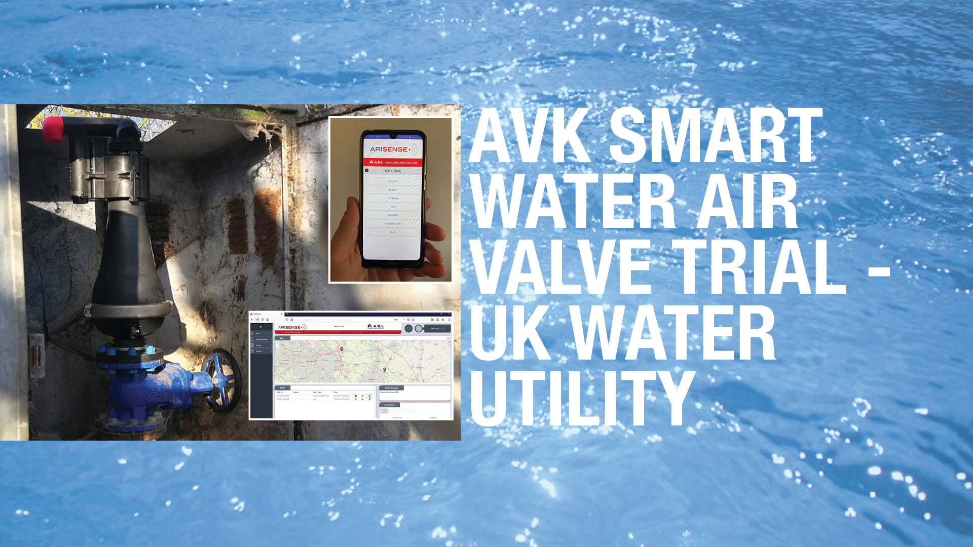 AVK UK Smart water  waste water air valve trial case-Top Banner