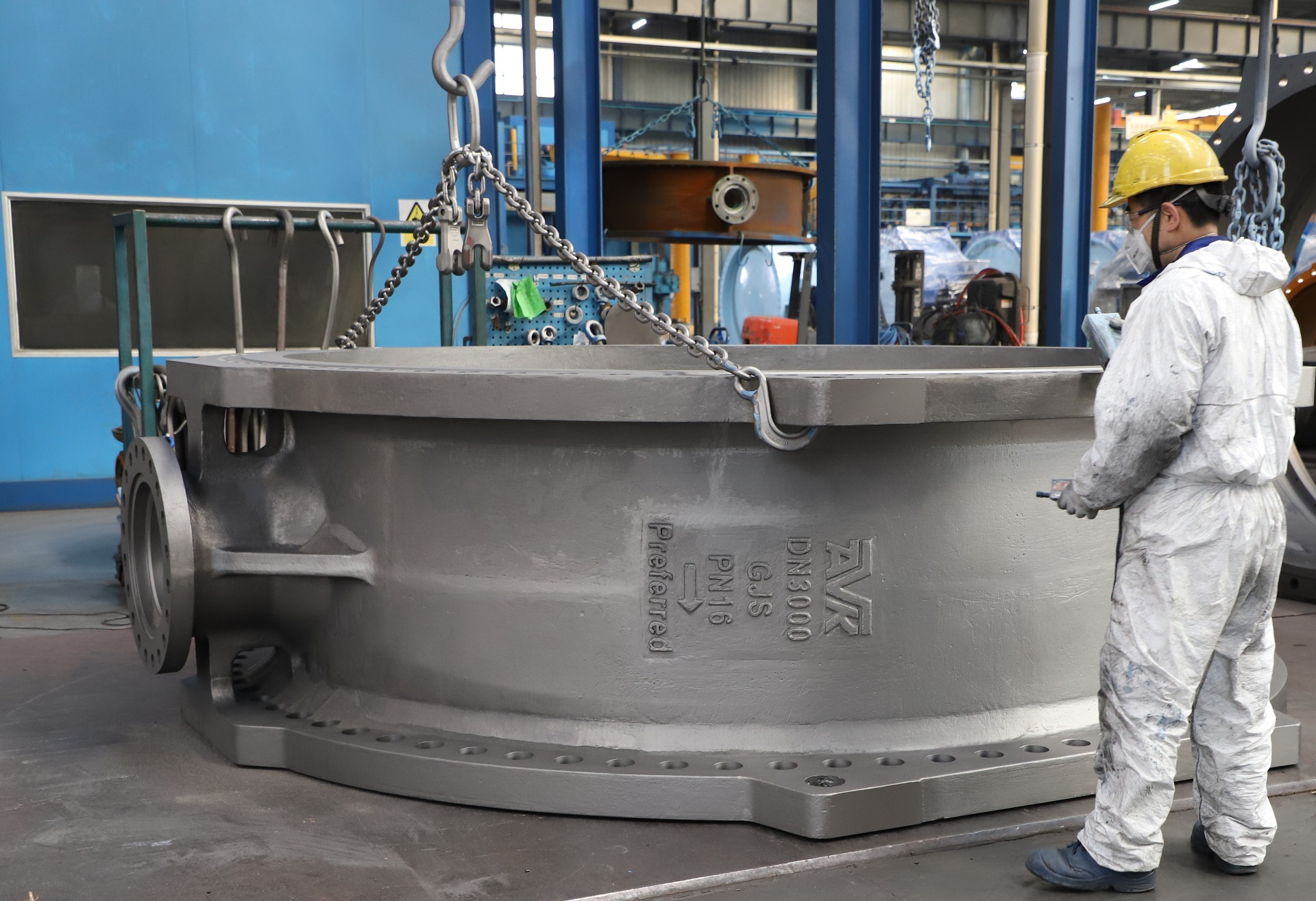 Biggest valve ever produced at AVK Anhui - DN3000 for water supply installation