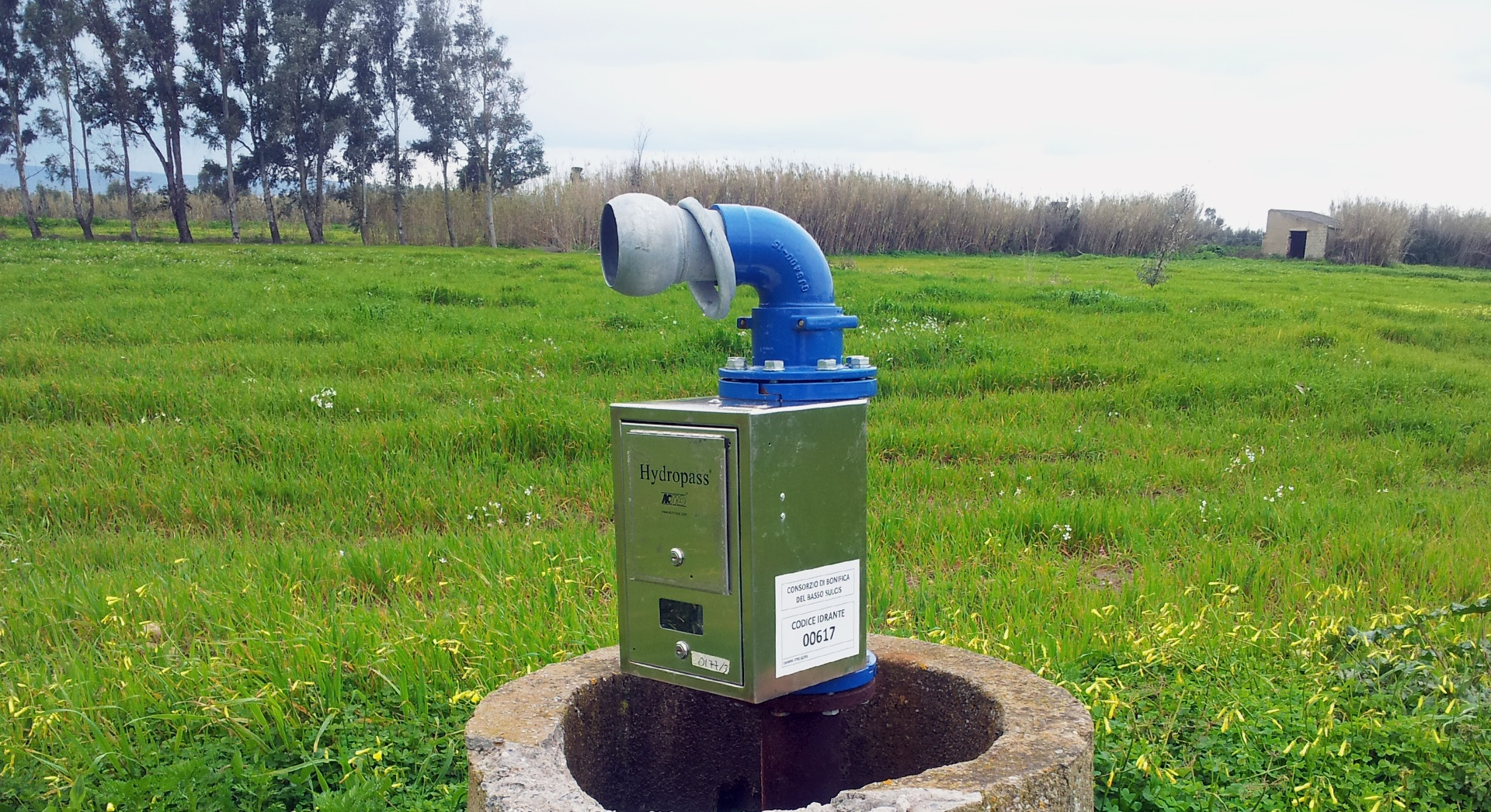 Irrigation hydrant with Hydropass installed in the field