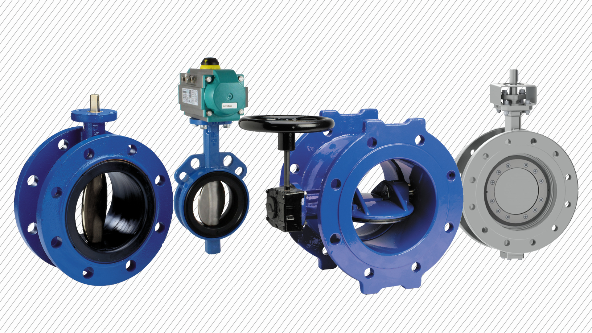 Close-up photo of an AVK double eccentric butterfly valve