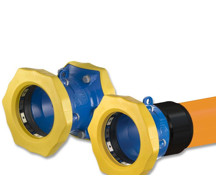 Gas coupling adaptors from AVK